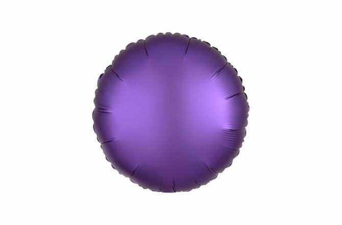 Ballon aluminium Pastille violet satiné mat - 40 cm