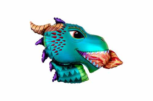 Grand ballon aluminium Dragon – 91 cm