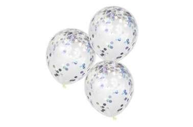 5 Ballons de baudruche - Confettis irisés