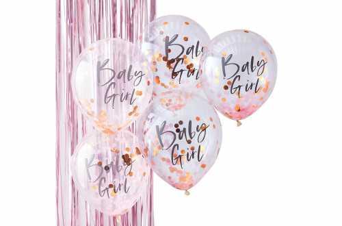 Ballons Confettis rose révélation de sexe
