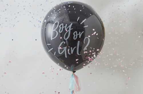 1 Ballon géant de révélation de sexe – Boy or girl ?