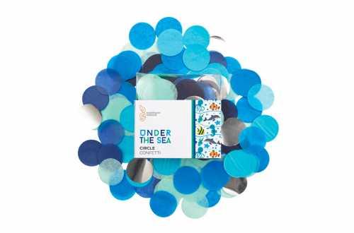 Confettis nuances bleu