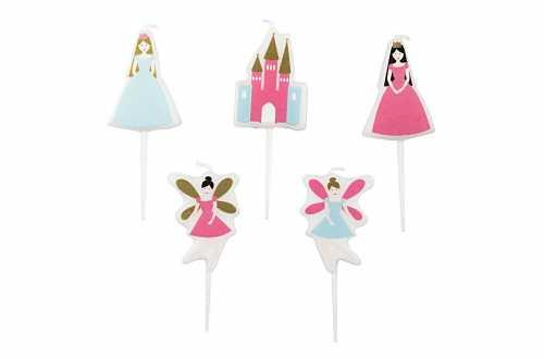 5  Petites bougies PRINCESSE