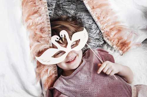 Set de décoration masques Photo Booth - Cygne