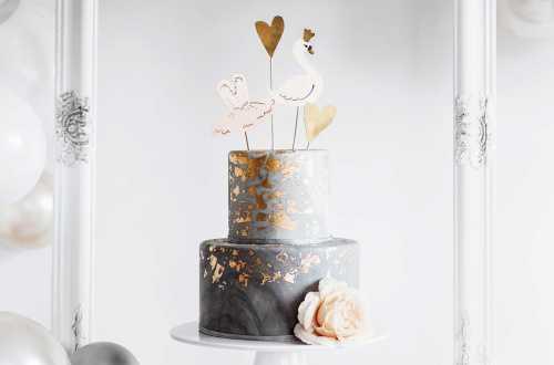 4 Pics à Gâteau Cygne, Ballerine et coeurs - Cygne