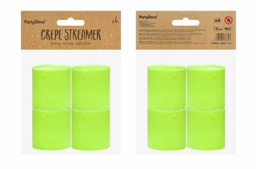 4 Rouleaux de papier crépon - vert