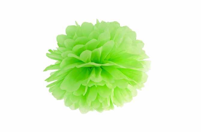 Pompon en papier de soie - vert