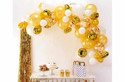 Kit arche de ballons – doré (70 ballons)