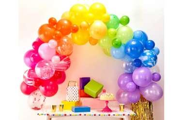 Kit arche de ballons – arc-en-ciel multicolore (85 ballons)