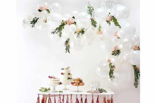 Kit arche de ballons – blanc (70 ballons)