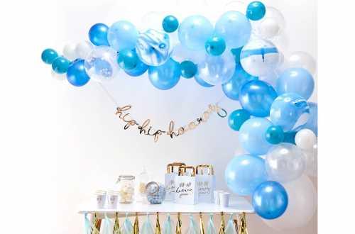 Kit arche de ballons – bleu (70 ballons)