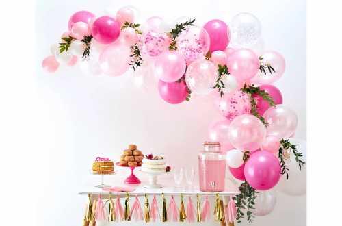 Kit arche de ballons – rose (70 ballons)