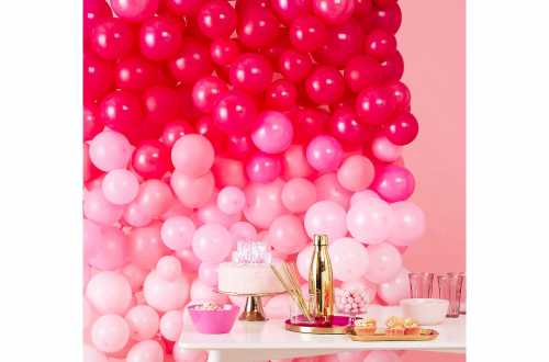 Méga murs de ballons – Rose (70 ballons)