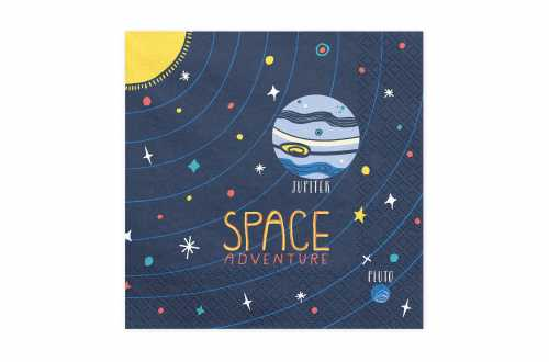 20 serviettes - Espace et cosmonaute