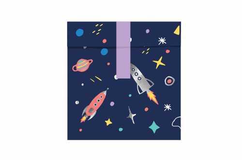 6 Sachets et stickers - Espace et Cosmonaute