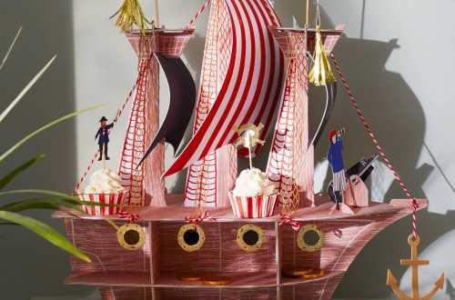 Kit de 24 cupcakes et toppers - Pirate