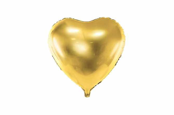 Ballon cœur doré - 45 cm
