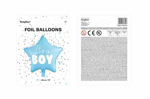 Ballon mylar It's a BOY – Cœur bleu (45 cm)