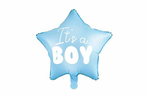 Ballon mylar It's a BOY – Cœur bleu (45 cm)