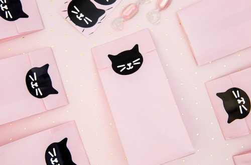 Pochettes cadeaux - Chat (12,5 cm)