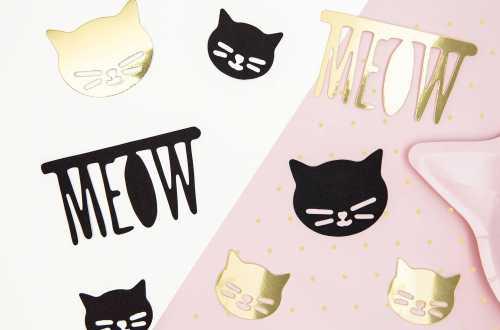 Mix de décorations en papier - Chat