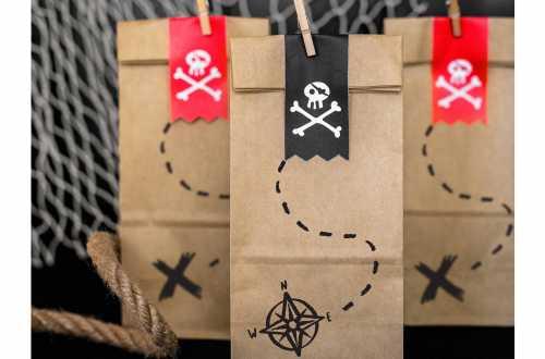 Pochettes cadeaux - Pirates (18 cm)