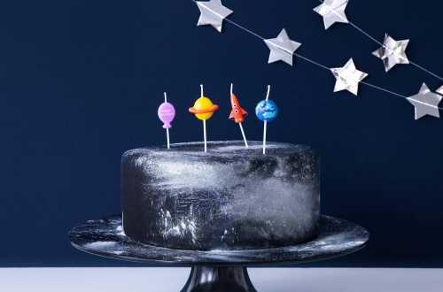 4 Petites bougies anniversaire - Espace