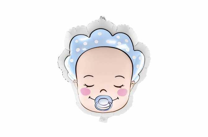 Ballon bébé garçon (baby boy) - bleu