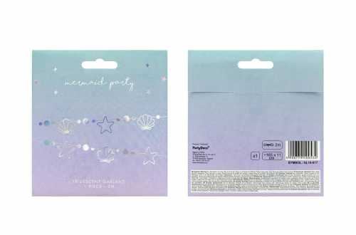 Guirlande étoiles de mer et coquillages – Iridescent (1,65 cm)