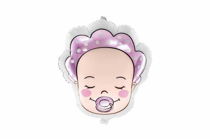 Ballon bébé fille (baby girl) - rose