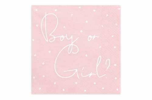 Serviettes Papier Gender Reveal (révélation de sexe) Boy or Girl ?