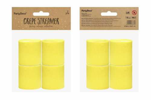 4 Rouleaux de papier crépon - jaune