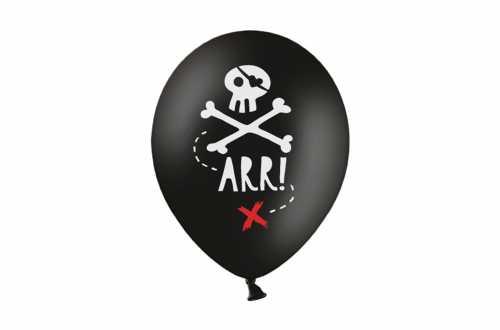 6 Ballons de baudruche : anniversaire pirate