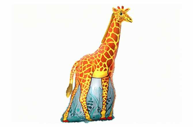 Grand ballon aluminium girafe - 81 cm