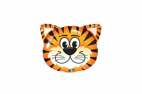 Ballon aluminium Tête de tigre - 35 cm