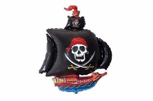 Ballon aluminium bateau de pirates - 66 cm