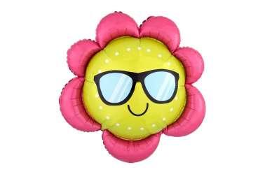 Ballon aluminium soleil à lunettes - 70 cm