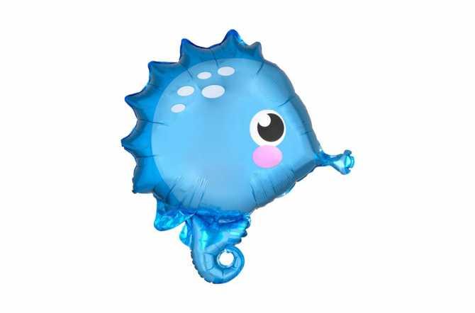 Ballon aluminium hippocampe - cheval de mer - 53 cm