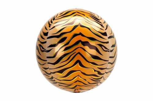 Grand Ballon aluminium tigre - 38 cm