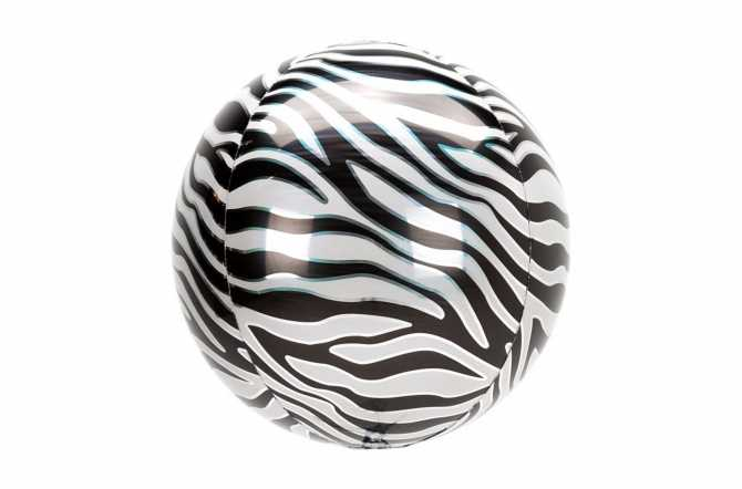 Grand Ballon aluminium Zebre - 38 cm