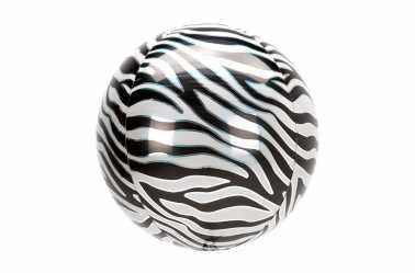 Grand Ballon aluminium Zèbre - 38 cm