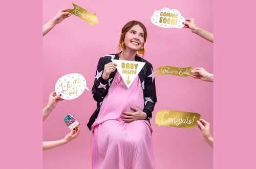 Kit photobooth de baby shower ou de gender reveal party – 6 panneaux