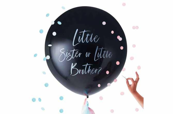 1 Ballon géant de révélation de sexe – Little sister or little brother ?