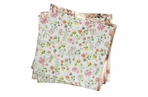 16 Petites serviettes fleurs