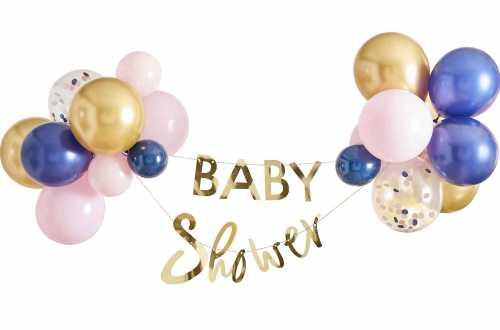Kit de décoration bannière et ballons pour révélation de sexe