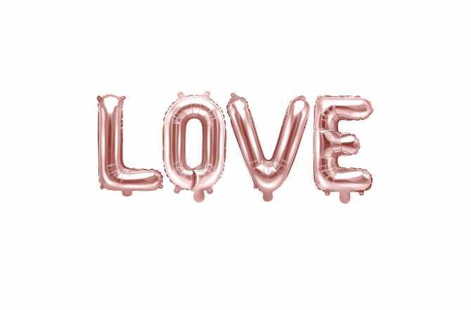 Ballon LOVE rose - 140 x 35 cm