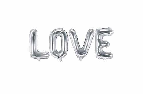Ballon LOVE argenté - 140 x 35 cm