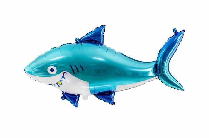Grand Ballon Requin bleu - 92 x 48 cm