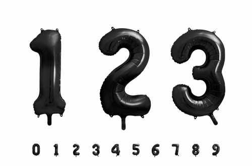1 Grand ballon chiffre noir - 86 cm