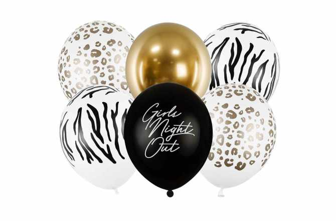 Set de 6 ballons mixtes jungle - 30cm